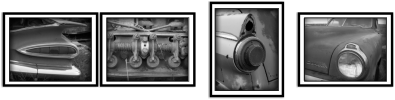 Clark Reeh Photography Notecard Collections - Garage Art Set  - of four original unique photos of cool old cars