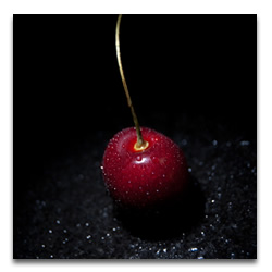 Image of a fresh cherry by Clark Reeh